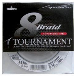 trenzado daiwa tournament specialist 8 braid hyper pe 300m