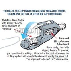 pinza aftco roller troller flat line clip fl-1