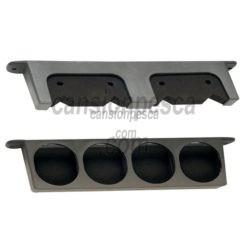 soporte caña pared zebco wall rod holder 4 cañas