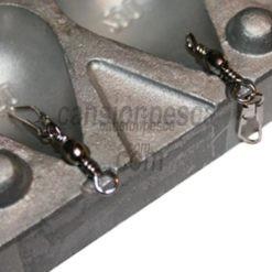 molde de plomo carpiste plat 40/50/60/80gr n