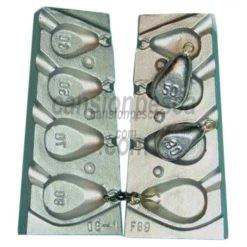 molde de plomo carpiste plat 30/50/70/80gr nº 89 a1