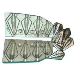 molde de plomo trapezoidal 20/40/60/80gr nº 90 a1