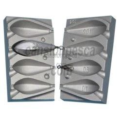 molde de plomo carp bombe 70/80/90/100gr nº 104 e6