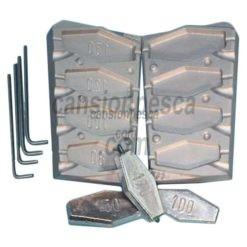 molde de plomo hexagonal inline 80/100/120/150gr n