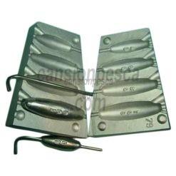 molde de plomo olive inline 40/60/80/100gr n