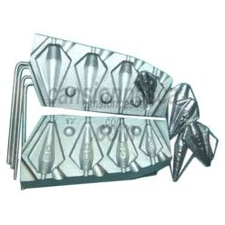 molde de plomo trapezoidal inline 20/40/60/80gr n