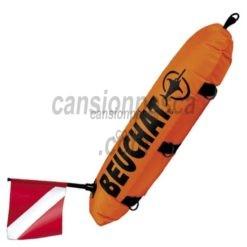 boya beuchat torpedo doble cubierta con bandera y cabo