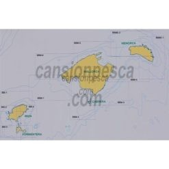 carta nautica batimetrica de las islas baleares