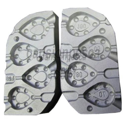 molde de plomo gripp inline 70/80/90/100gr n