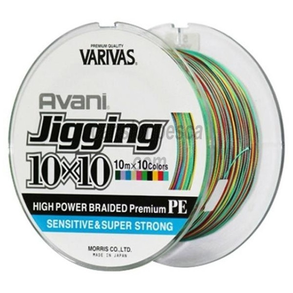 trenzado varivas avani jigging pe multicolor (10mx10 colores) 300m