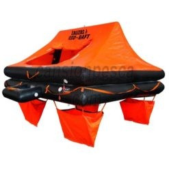 balsa salvavidas lalizas iso-raft en bolsa