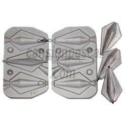 molde de plomo trapezoidal inline a1 e6 100gr n