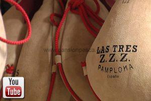 bota de vino las tres Z.Z.Z.
