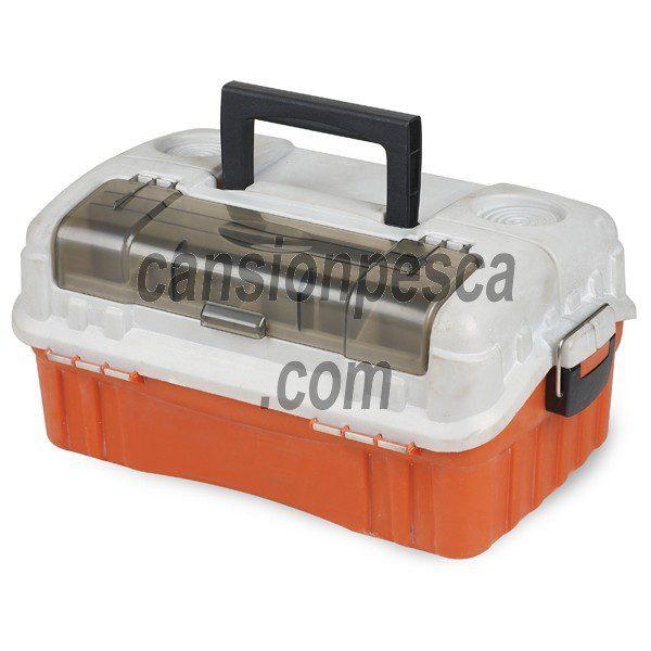 caja linea effe 3 bandejas con tapa transparente