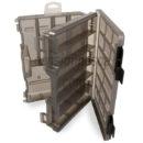 caja linea effe 2 bandejas con tapa transparente