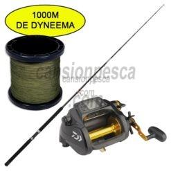 carrete daiwa tanacom bull 1000 + caña daiwa sensor trolling 181 30 50lb + 1000mts trenzado