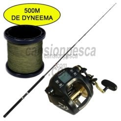 carrete daiwa tanacom 750 + caña daiwa sensor trolling 181 30 50lb + 500 mts trenzado