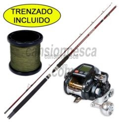 carrete fishing ferrari kgn 500s + caña grauvell spinnaker 180 + 210m trenzado