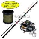 carrete fishing ferrari kgn 1000 + 500mts de trenzado de regalo