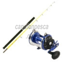 carrete linea effe jd trolling 300 + caña okuma g force sea boat