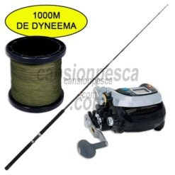 carrete kaigen 1000 + caña daiwa sensor trolling 181 30 50lb + 1000mts trenzado