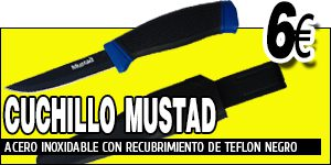 CUCHILLO MUSTAD TEFLON COATED BAIT KNIFE 4""