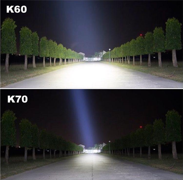 Linterna Acebeam K60 y K70, enciendelas y se hace de dia