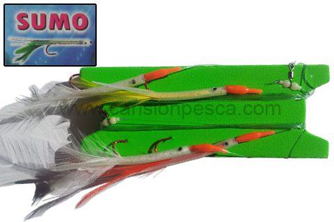 Metralleta 2 peces pluma sumo cicerello, las llampugas y verderoles no podran resistirse