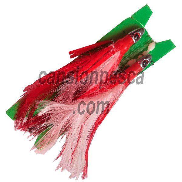 metralleta 2 plumas blanco rojo