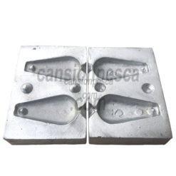 molde de plomo pera 100/100gr