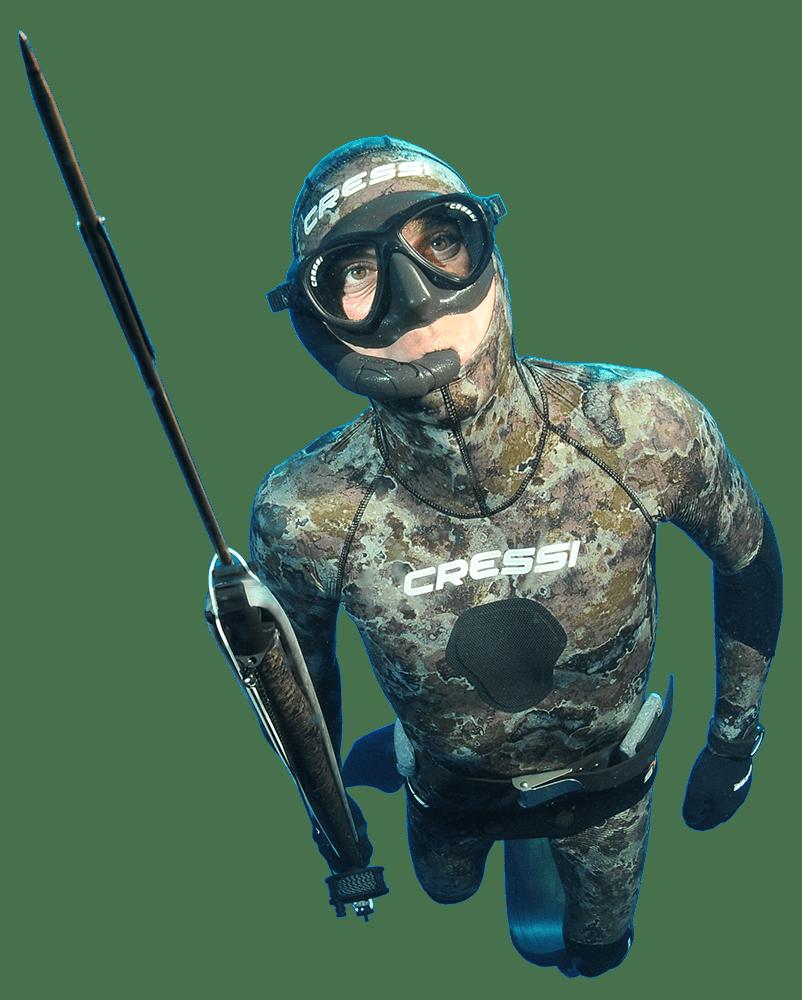 traje de pesca SUBMARINA en aguas de mallorca