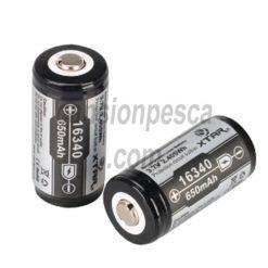 bateria recargable xtar 16340 650mAH