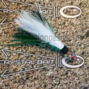pluma-crystalbait-12cm-blanca-verde