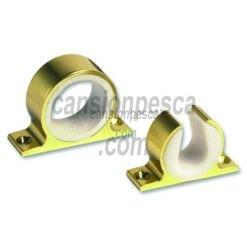 soporte caña techo/pared aluminio anodizado lees dorado