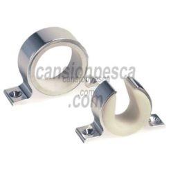 soporte caña techo/pared aluminio anodizado lees plata