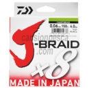 trenzado daiwa j braid x8 multicolor 150m