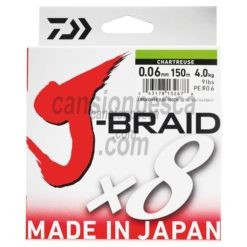 trenzado daiwa j braid x8 multicolor 150m