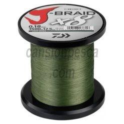 trenzado daiwa j braid x8 verde 1500m